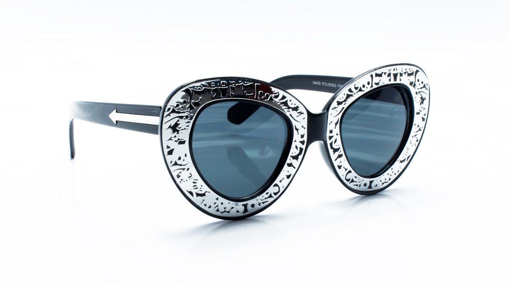 Cat Eye Round Engraved Sunglasses