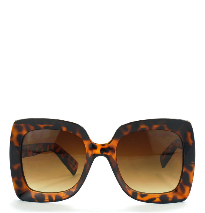 THICK OVERSIZED RECTANGULAR SUNGLASSES