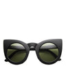 Oversized Round Pointed Cat Eye Sunglasses