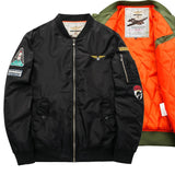 New Men's MA-1 Flight Pilot Bomber Jacket