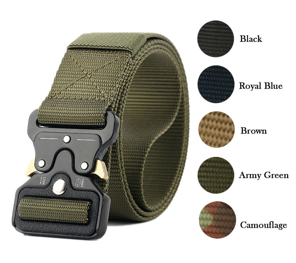 Tactical Nylon Belt,Military Grade Quick Release W/ Metal Buckle