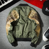 New Men's Embroidery Fashion Bomber Jacket