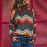 Women Knitted Top Pullover Shirt