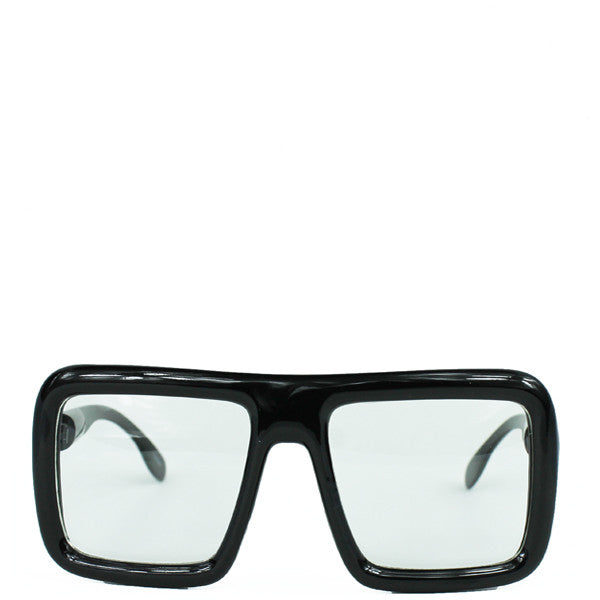 OVERSIZED RECTANGULAR THICK GLASSES
