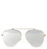 Revo Reflective Flat Top Aviator