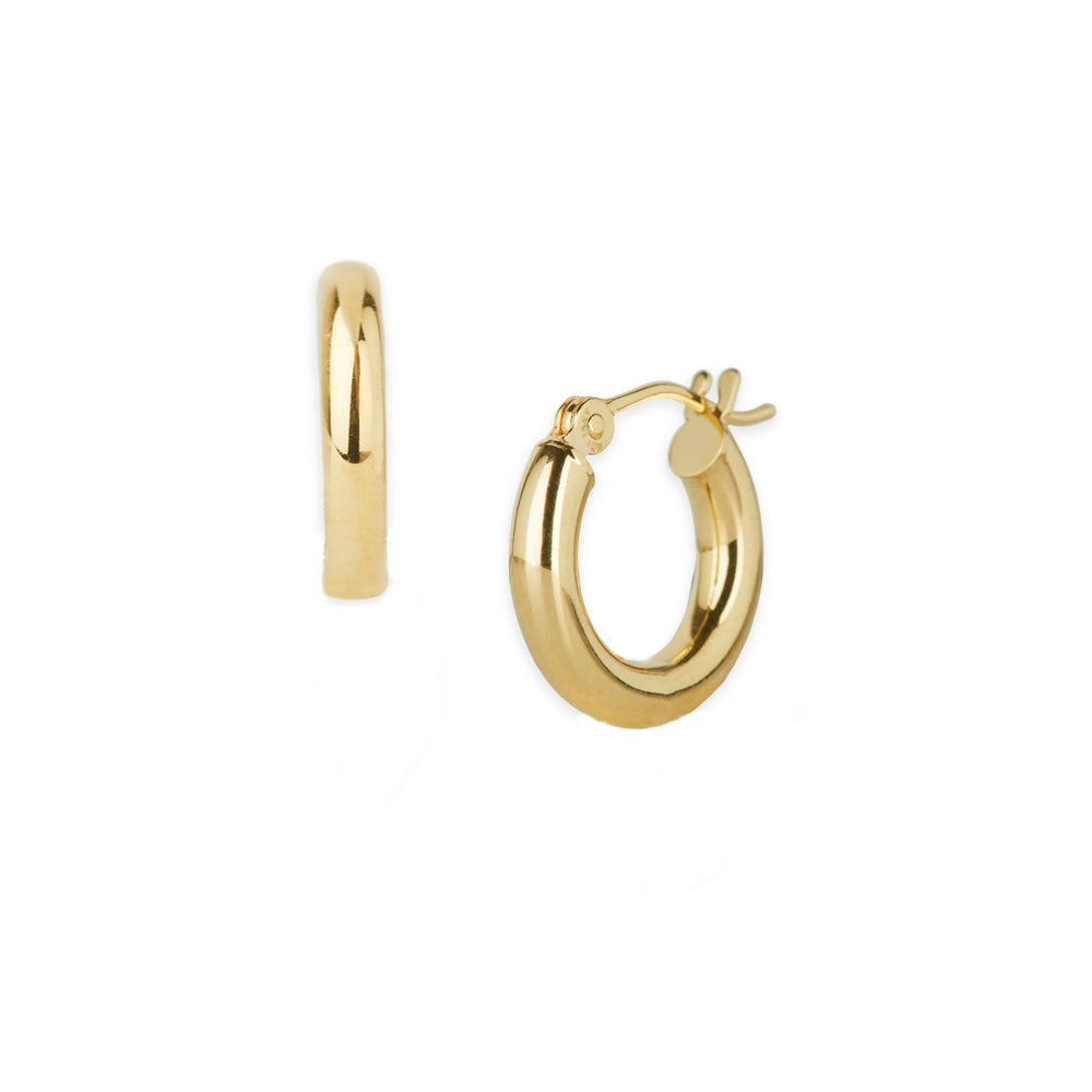Small 3 mm Gold Hoops
