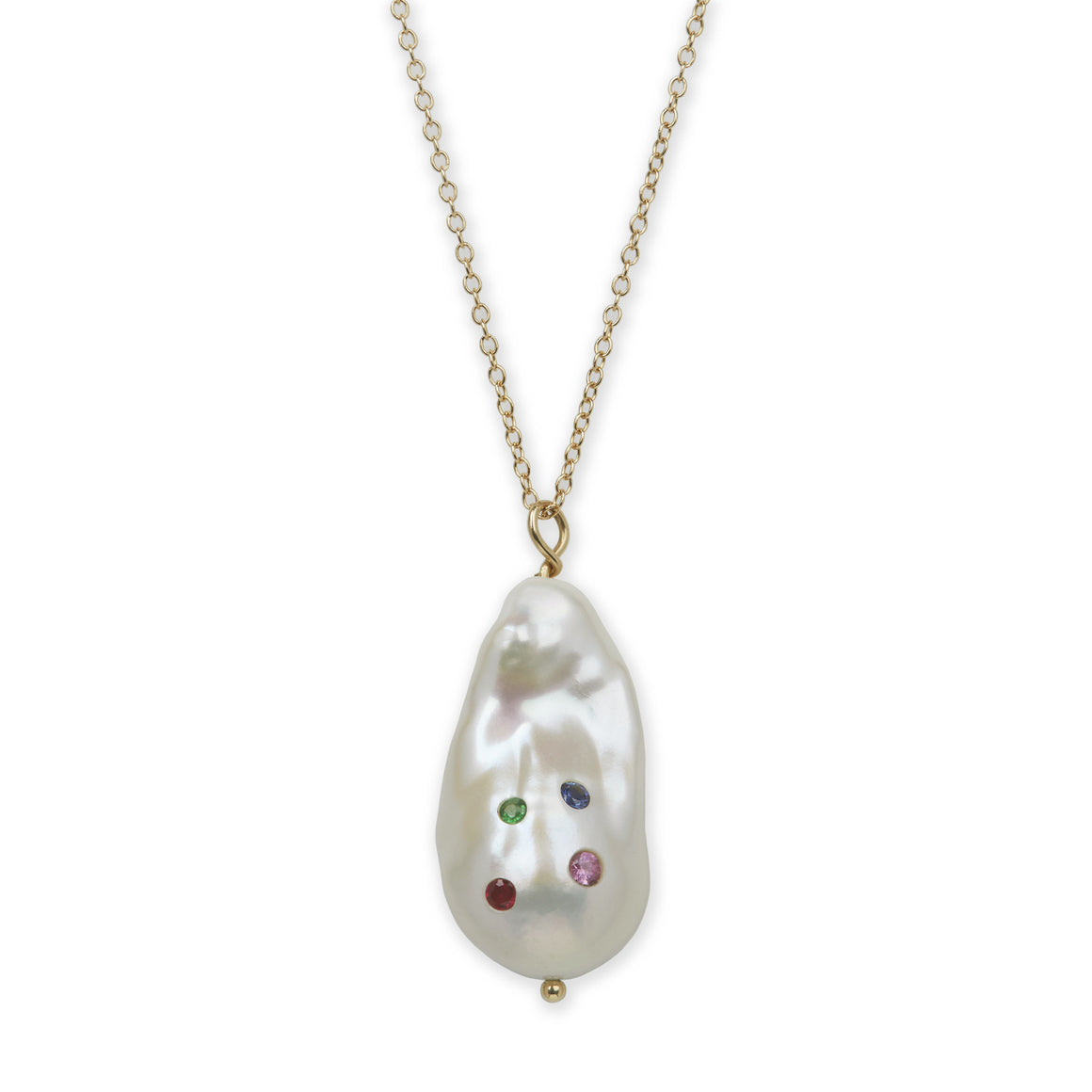 Baroque Pearl Harlequin Necklace