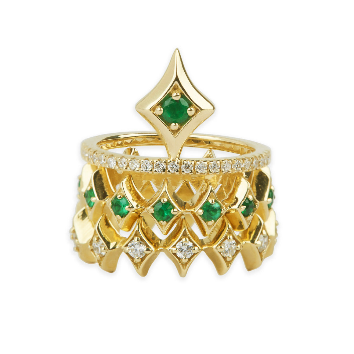 Royal Eternity Emerald Ring