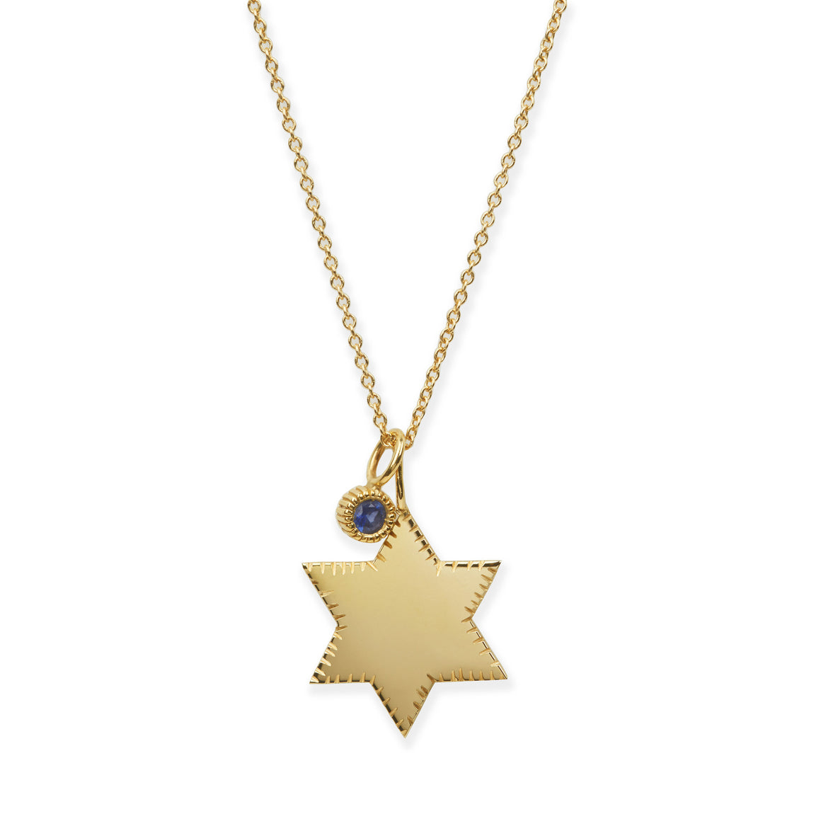 Star of David Charm Necklace