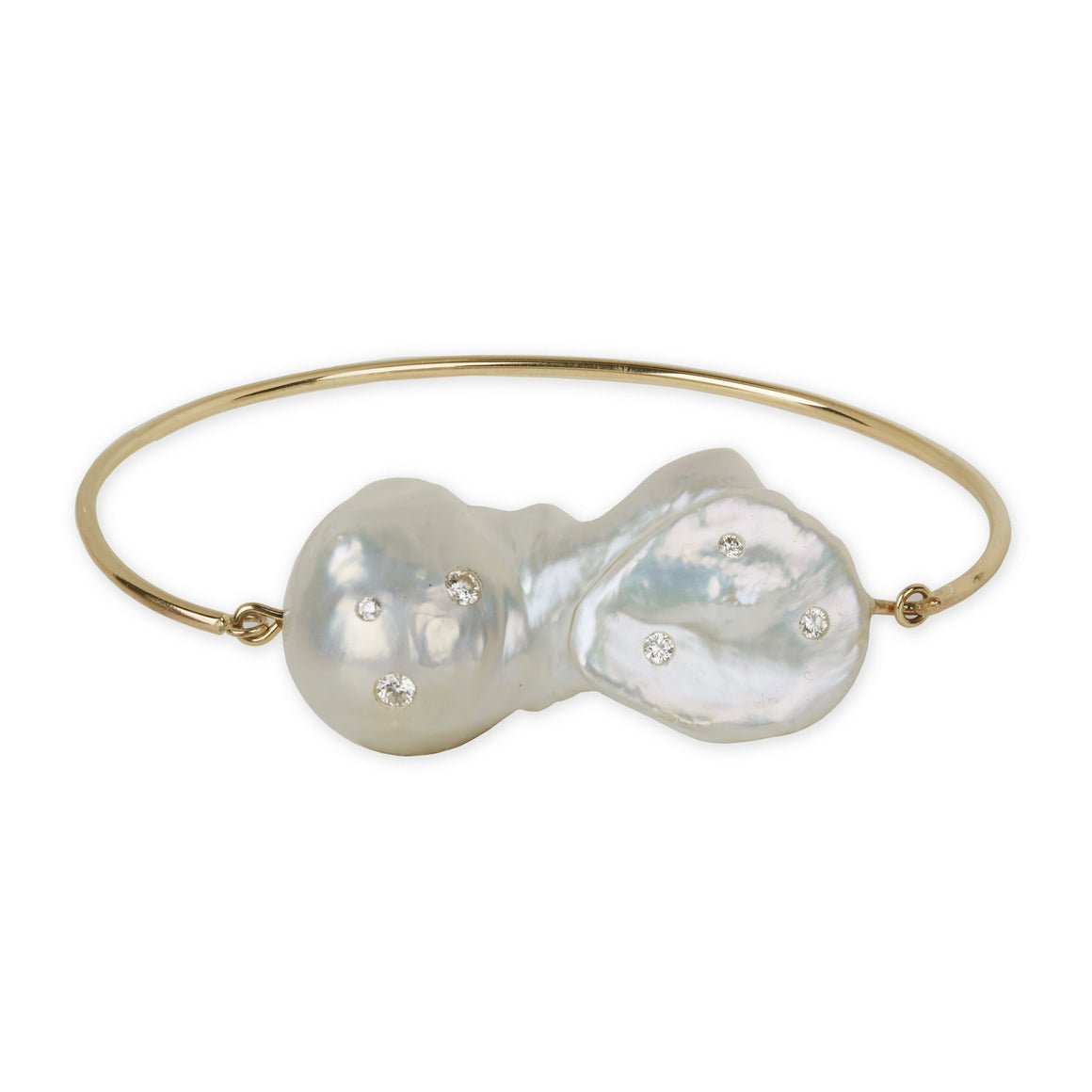 Diamond Baroque Pearl Dream Bracelet