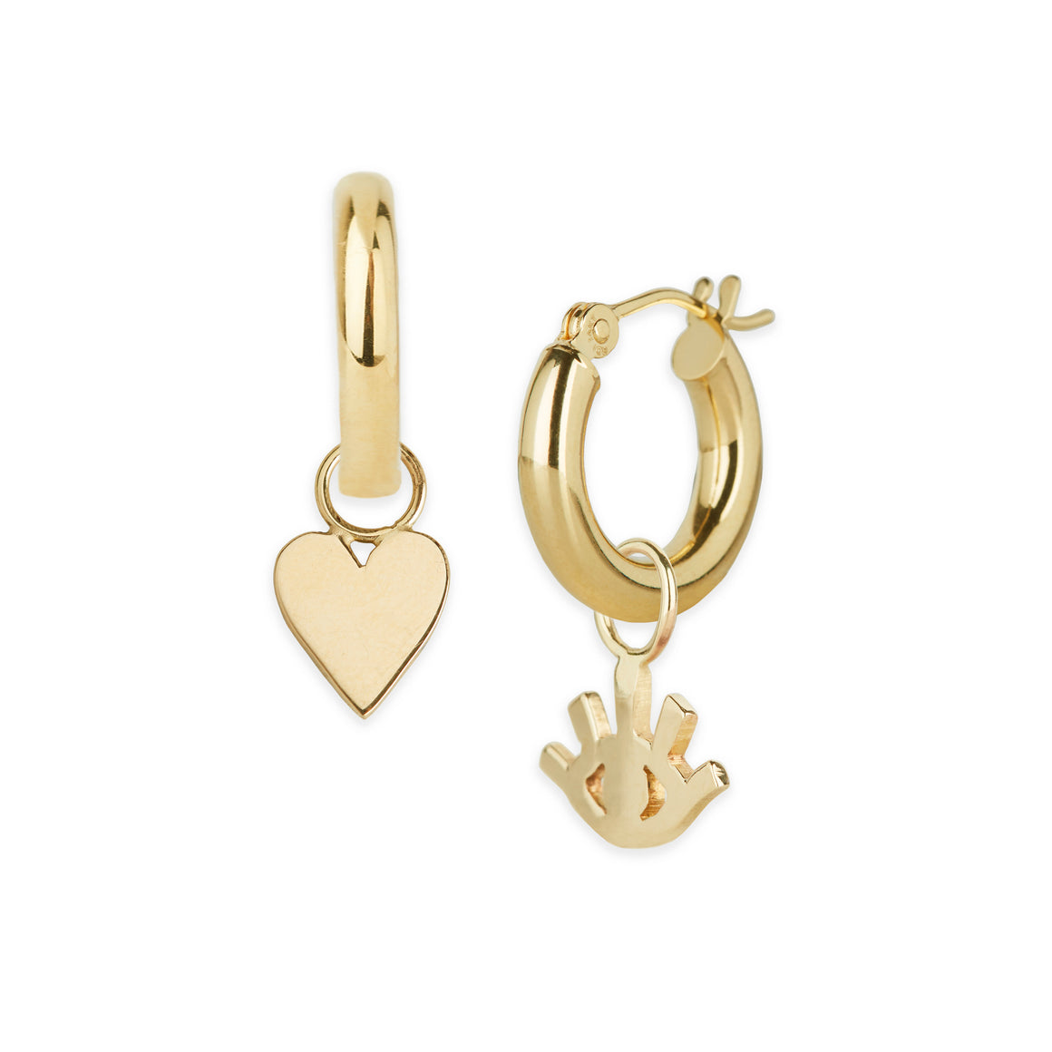 Gold Heart Hoop Charm