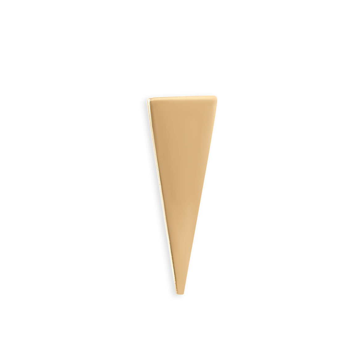 Gold Long Triangle Stud