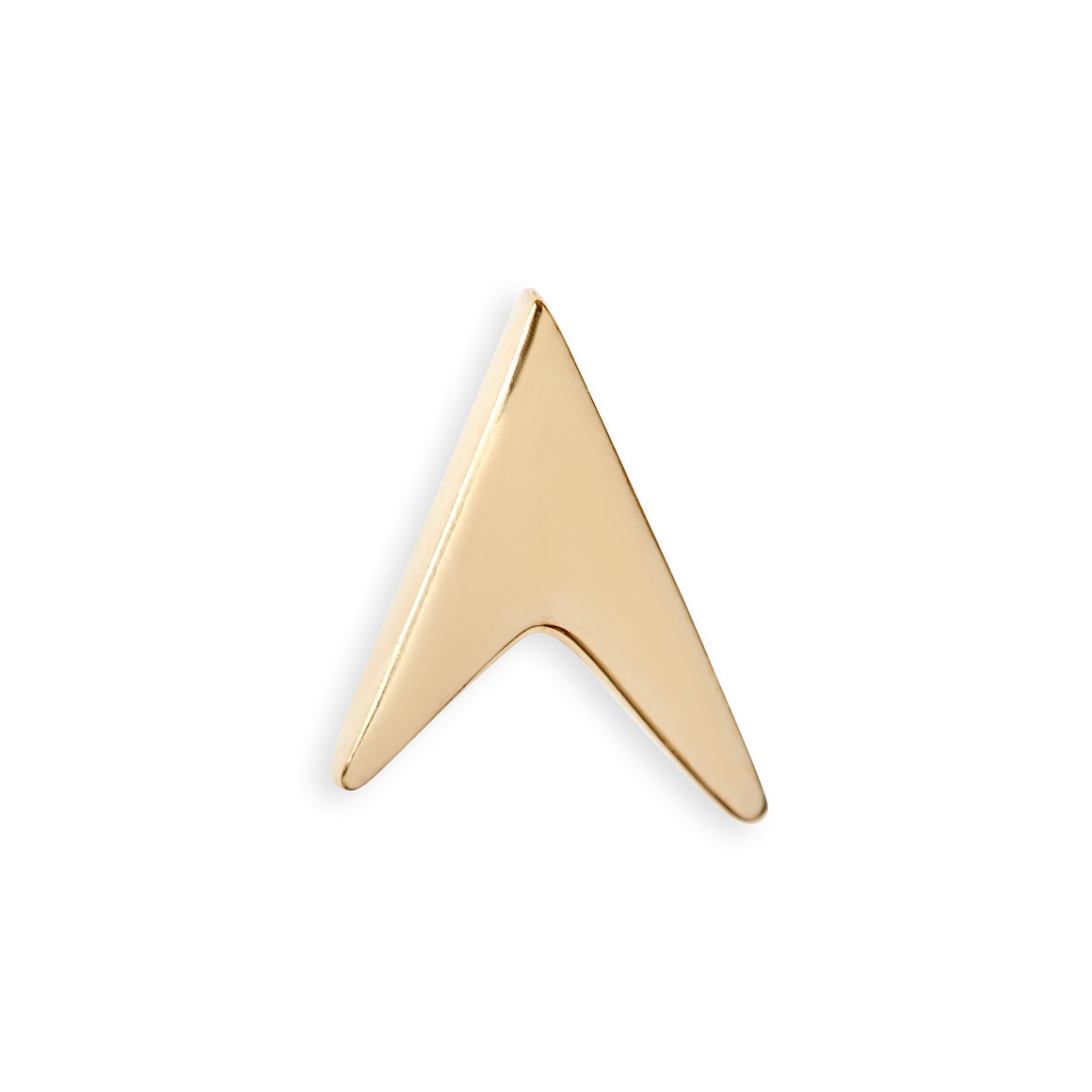 14 kt Gold Arrow Head Stud