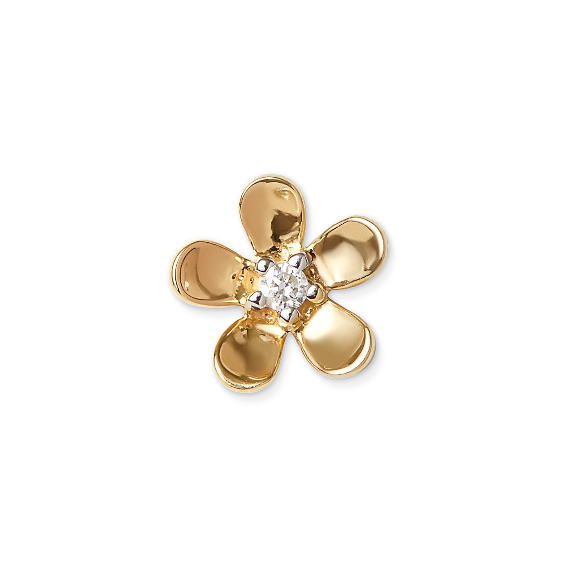 Mini Gold Diamond Flower Stud