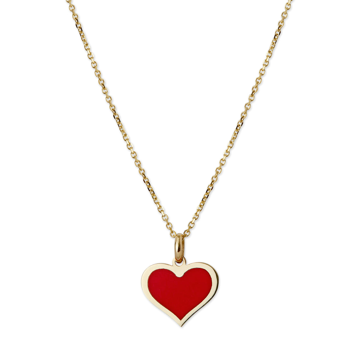 14 kt. Gold Coral Heart Necklace