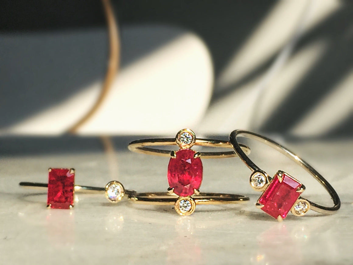 Ruby Double Band Ring