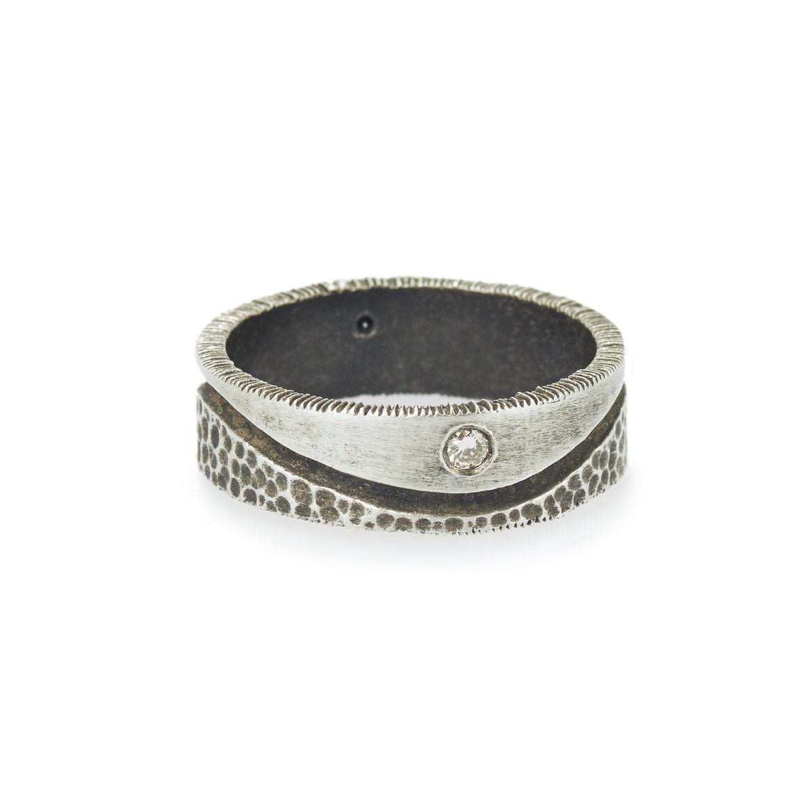 Oxidized Men's Duality Ring