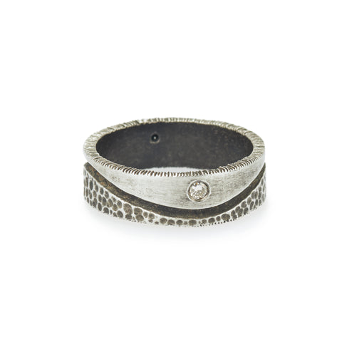 oxidized duality Men's Ring
