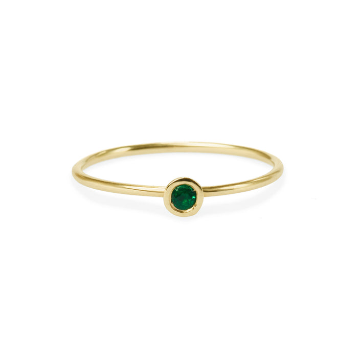 emerald friendship ring