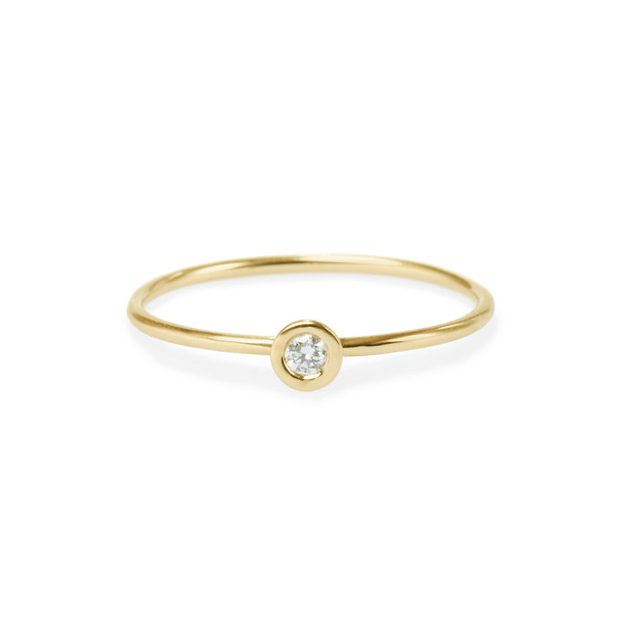 round diamond friendship ring
