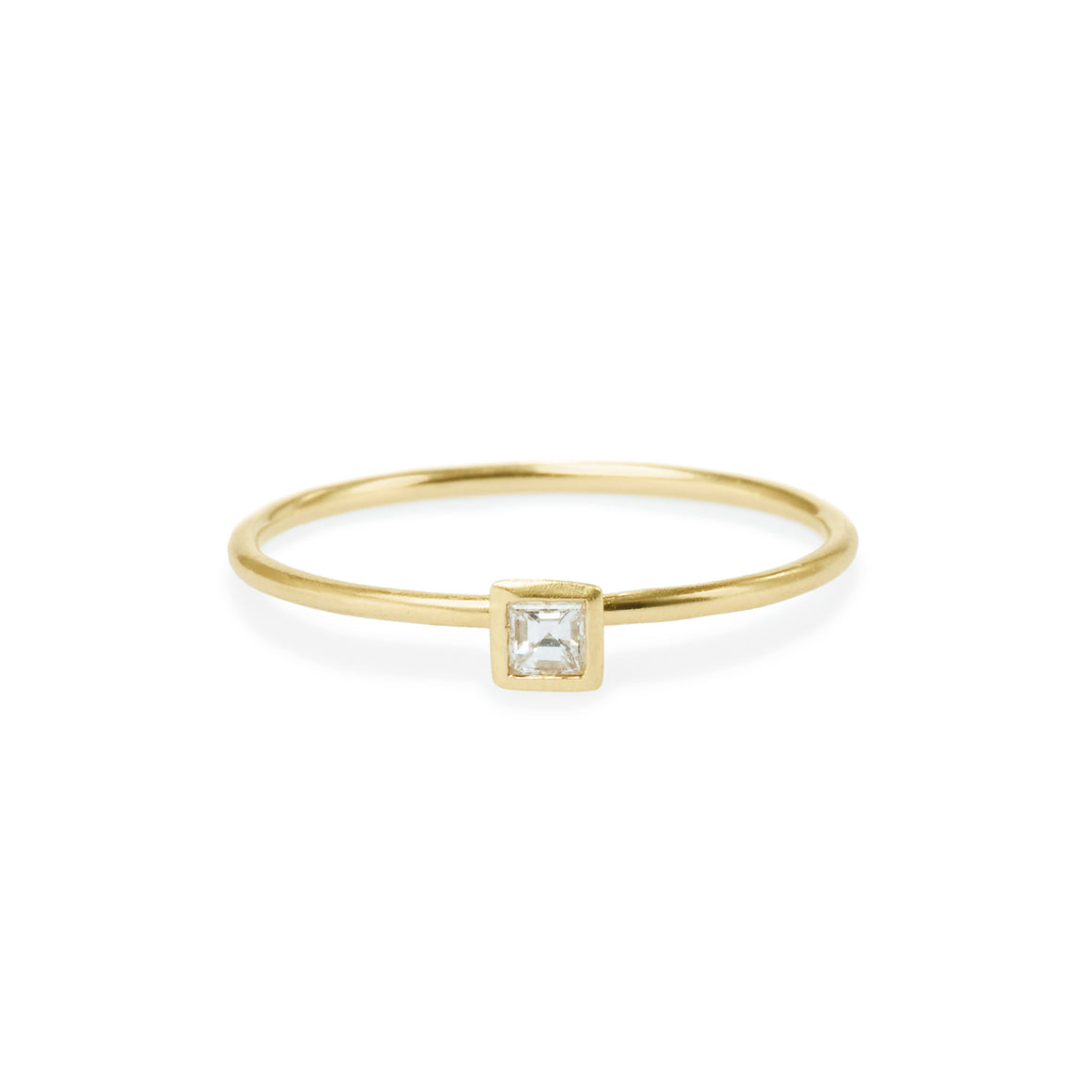 Square Diamond Friendship Ring