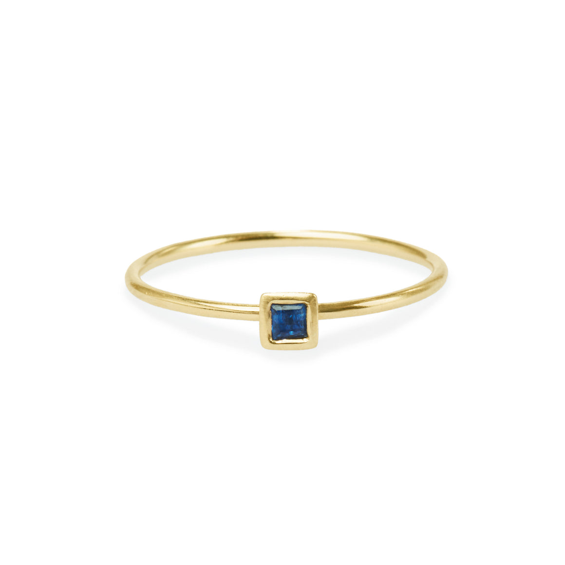 Square Sapphire Friendship Ring