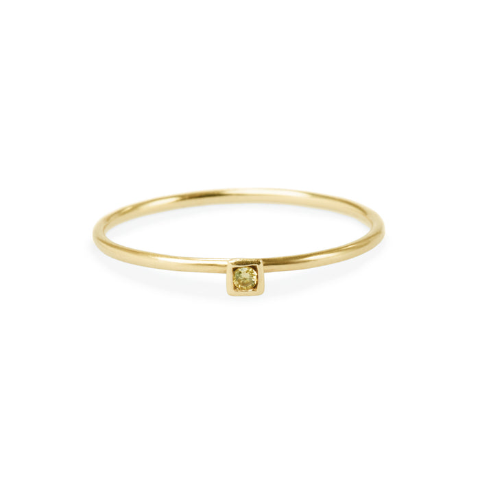 square yellow diamond friendship ring