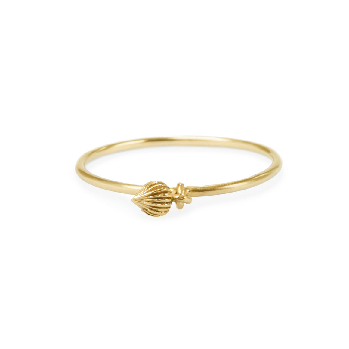 "Gold Charm Ring ""Seed of Joy"""