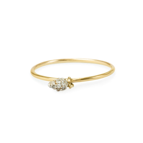 Charm seed of joy pave ring