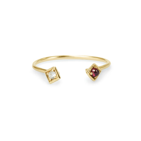 cuff diamond ruby ring