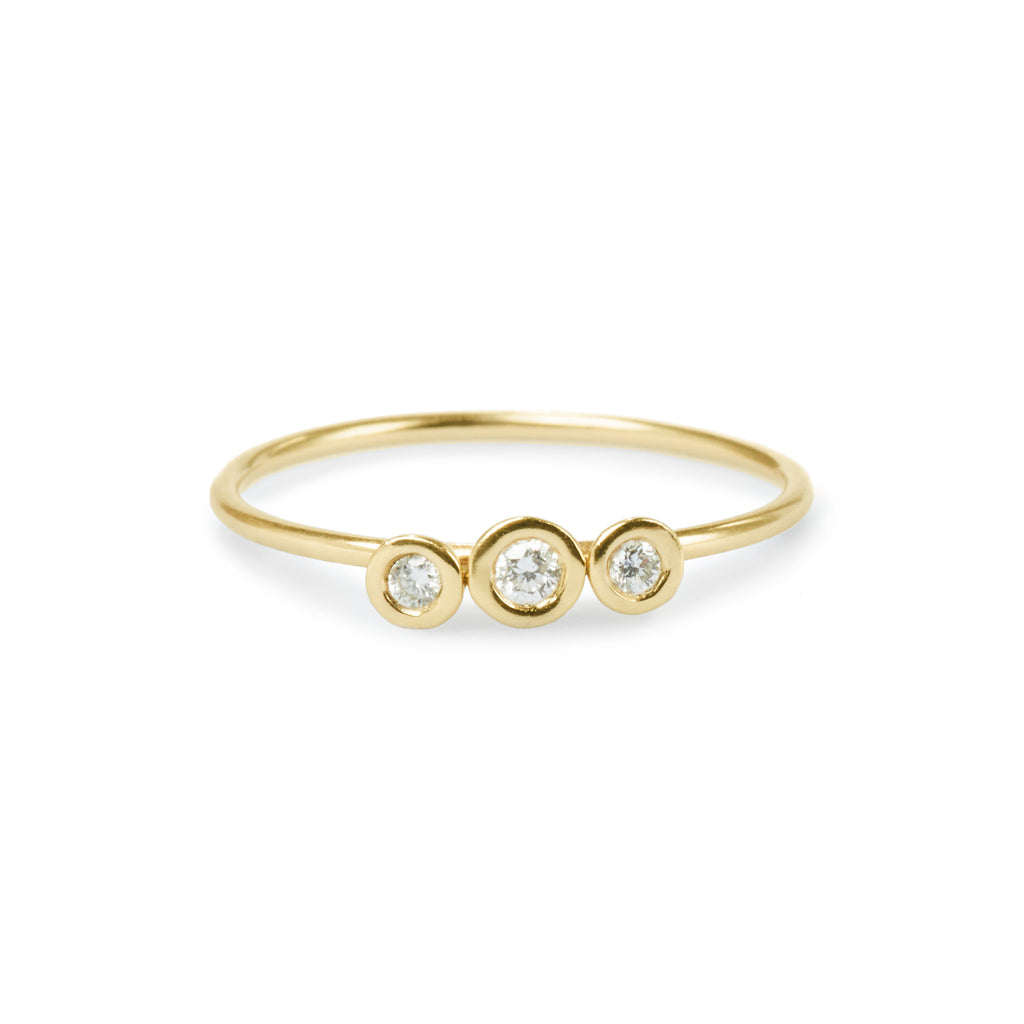 trinity diamond gold ring