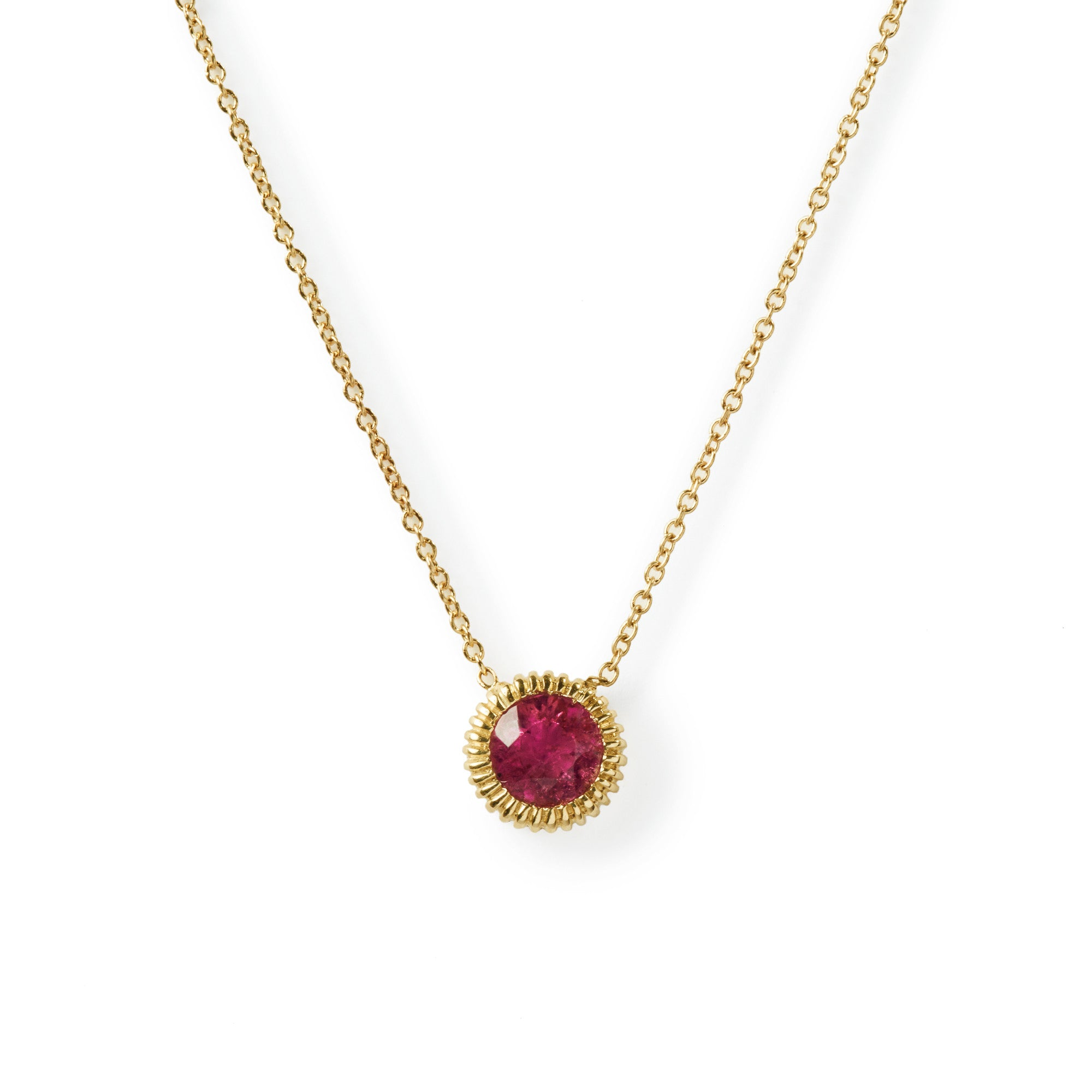 white pendant products diamond drop gold tourmaline pink necklace ronan campbell