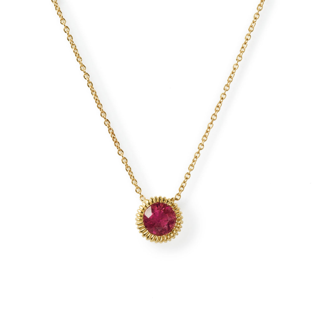 large youth pink tourmaline necklace