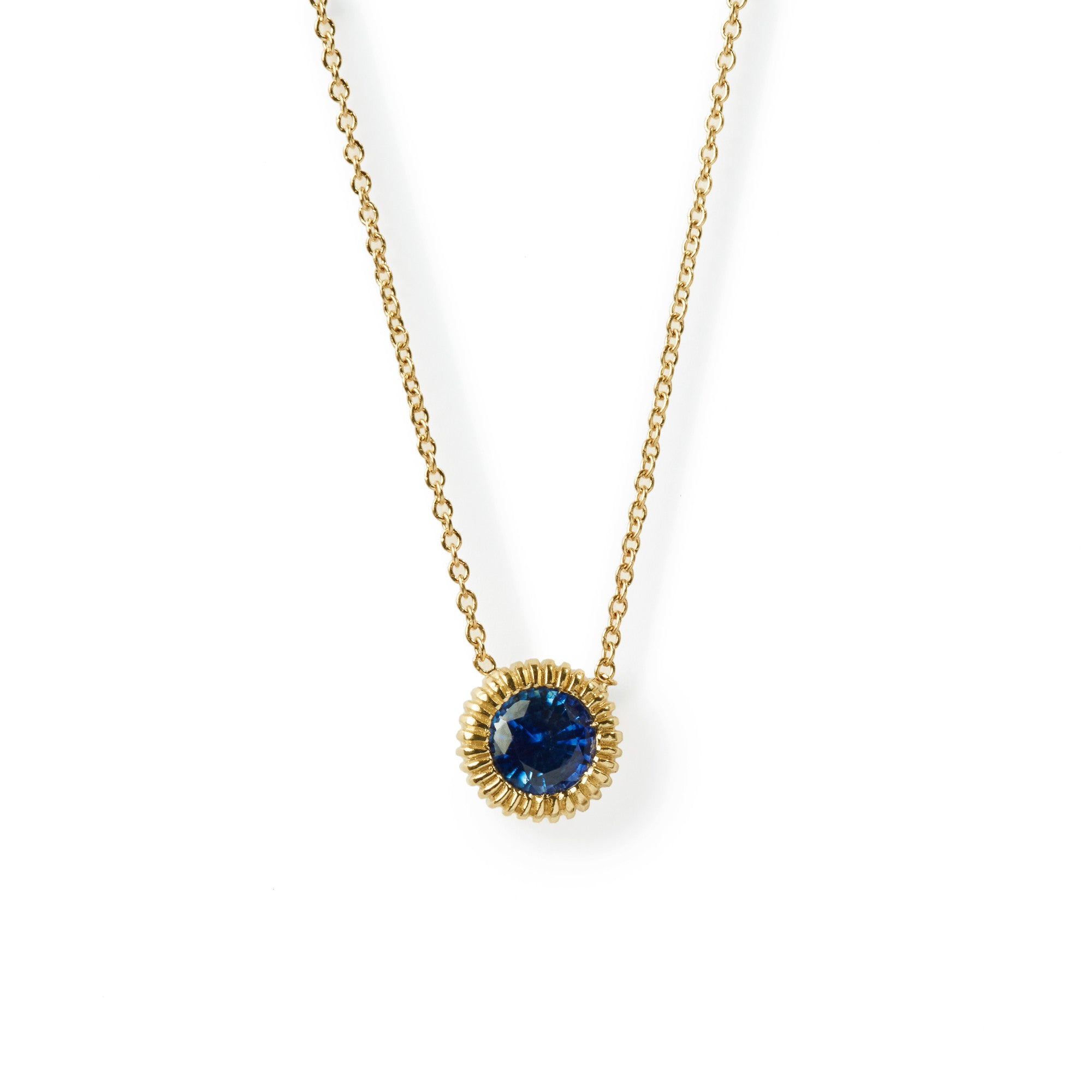 yellow diamond large circular chain winsor necklace eclipse gold