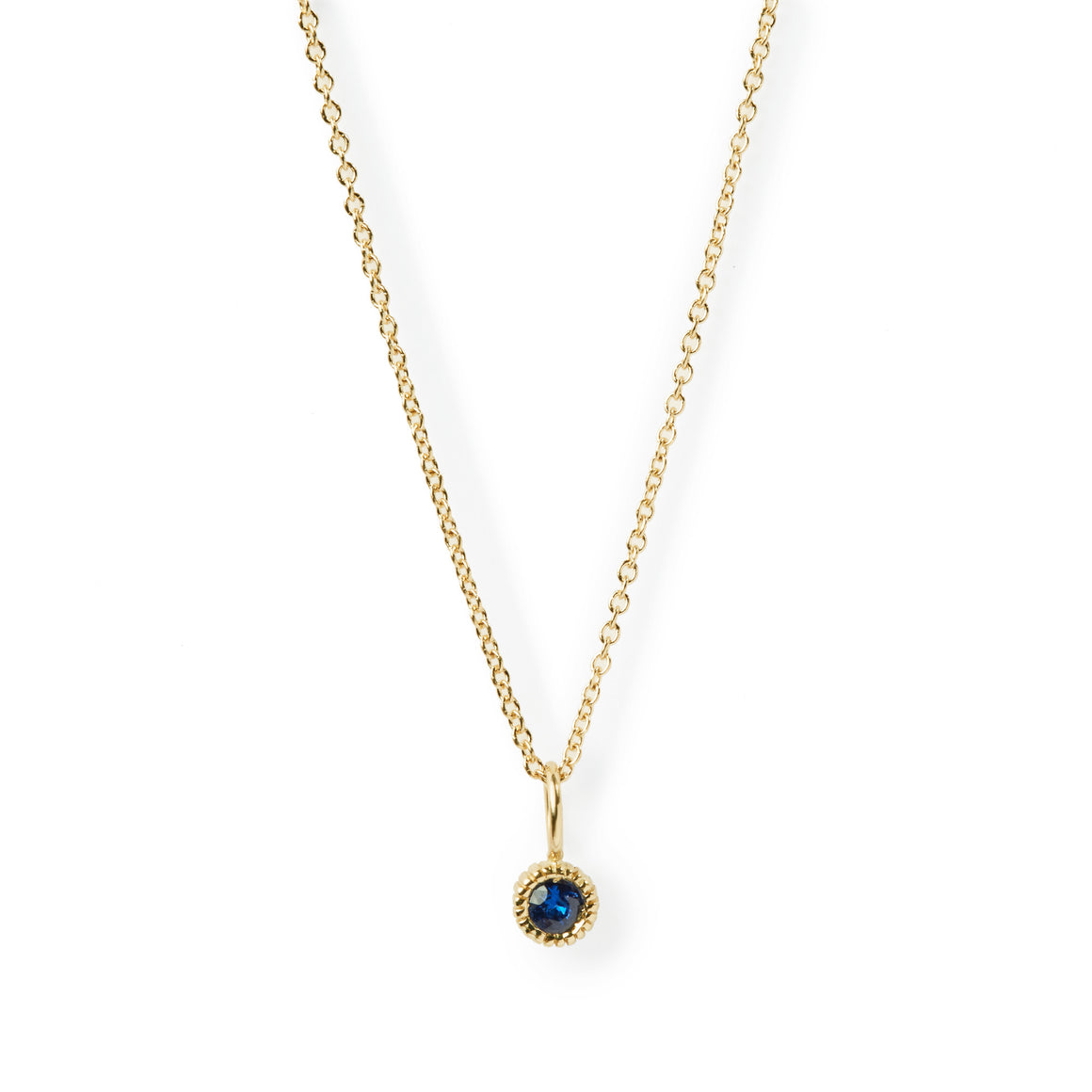 YOUTH SAPPHIRE CHARM NECKLACE