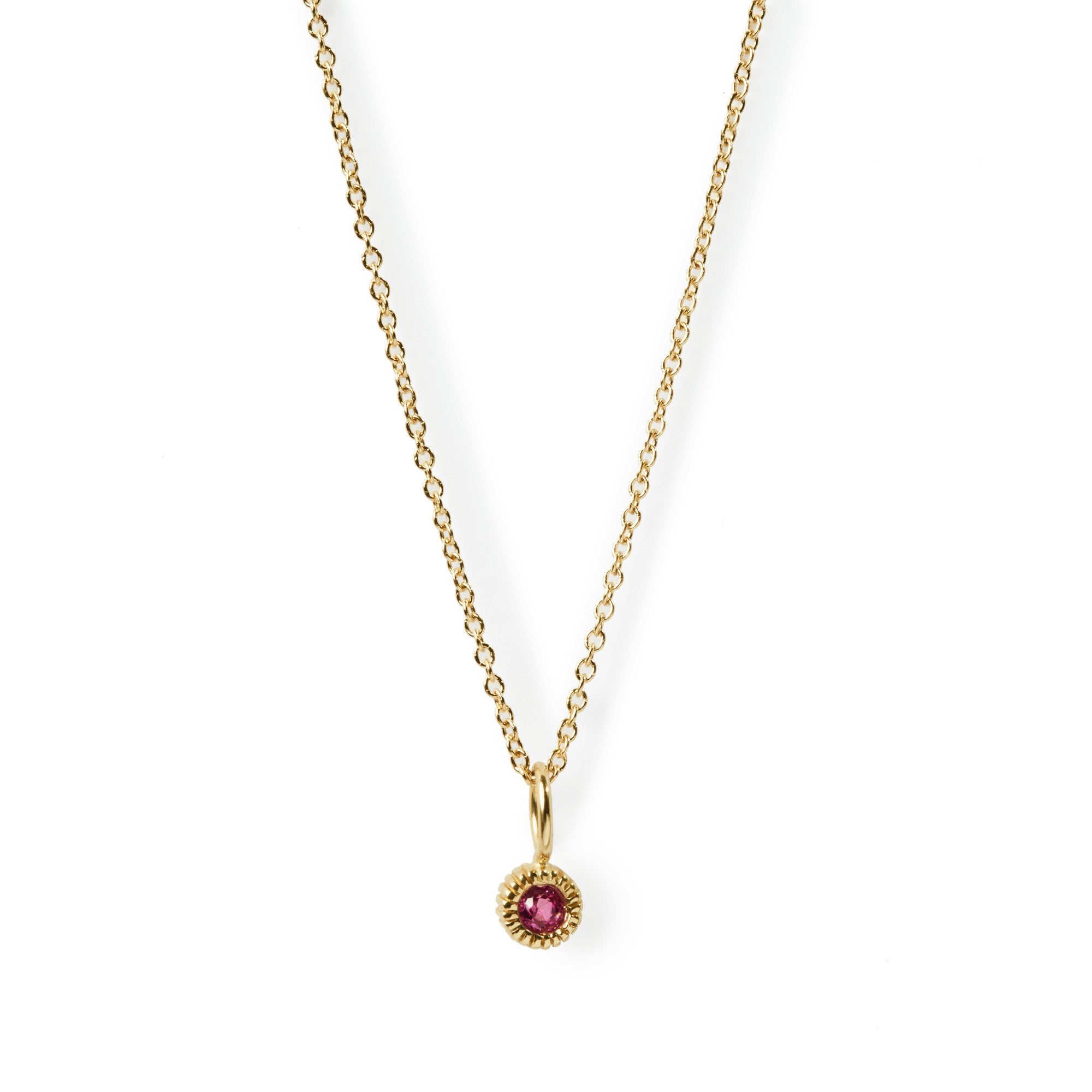 dublin products gold pink necklace tourmaline diamond fine jewellers bespoke jewellery white campbell pendant
