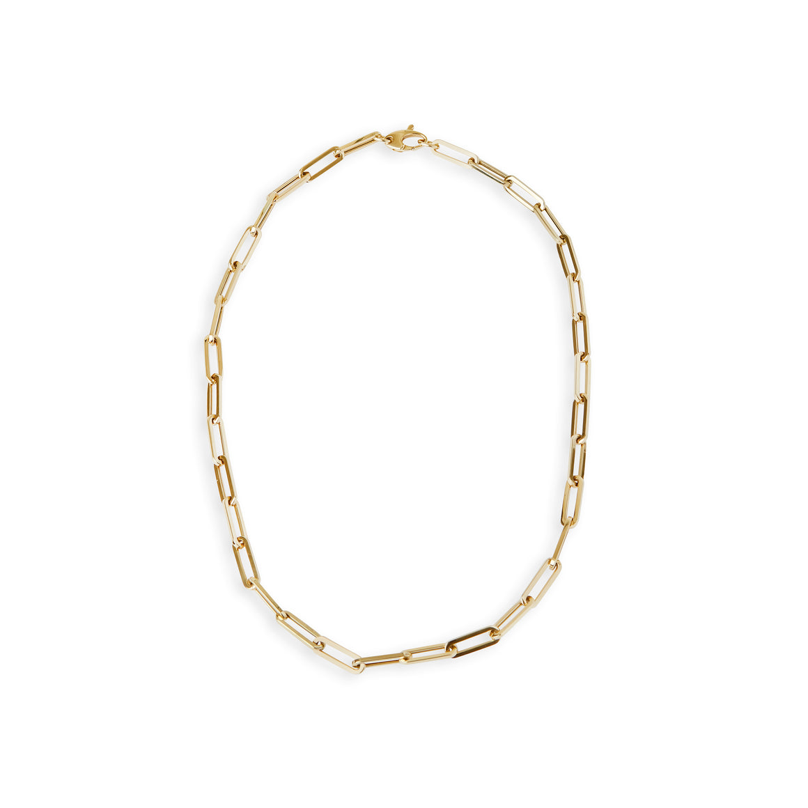 14 kt. gold large paperclip chain