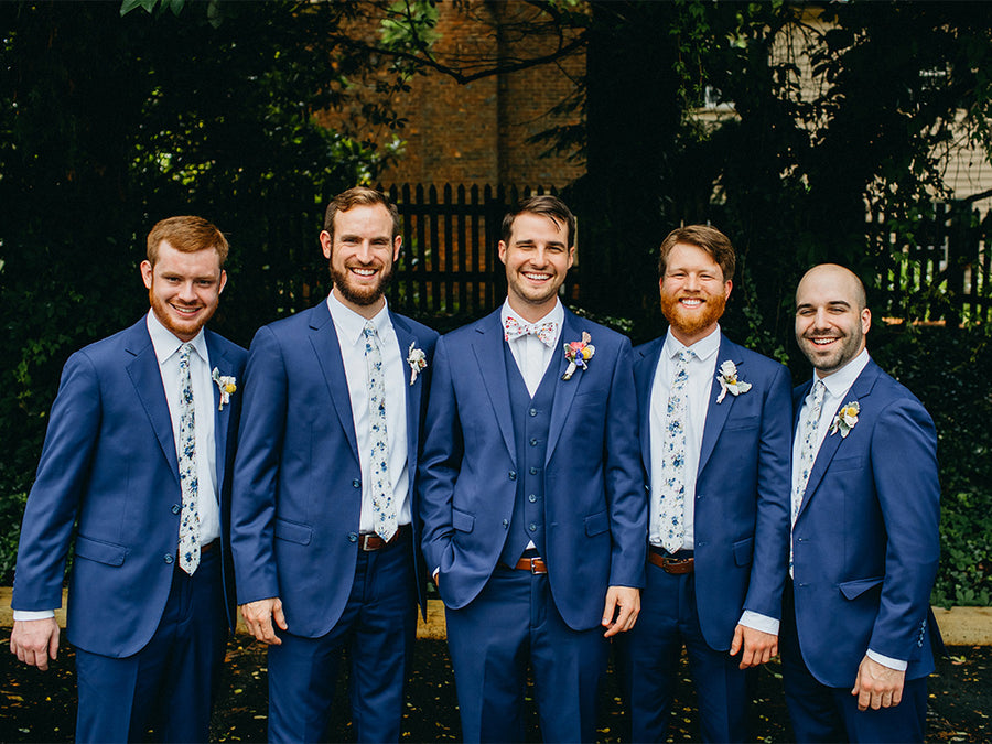 brilliant blue wedding suits for men