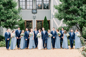 John and Ashleigh - Real Weddings by The Groomsman Suit