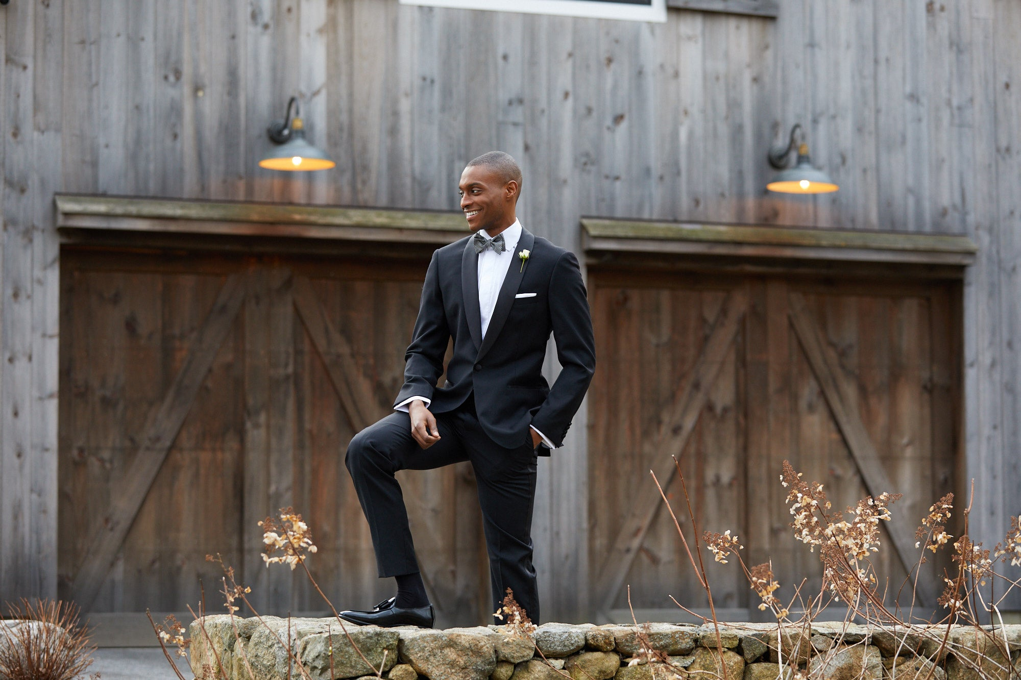 black tuxedo with loafers