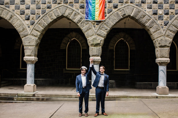 Looking for the best gay wedding ideas? Here's how to incorporate pride into your gay wedding.