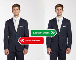 How To Button Your Wedding Suit and Vest