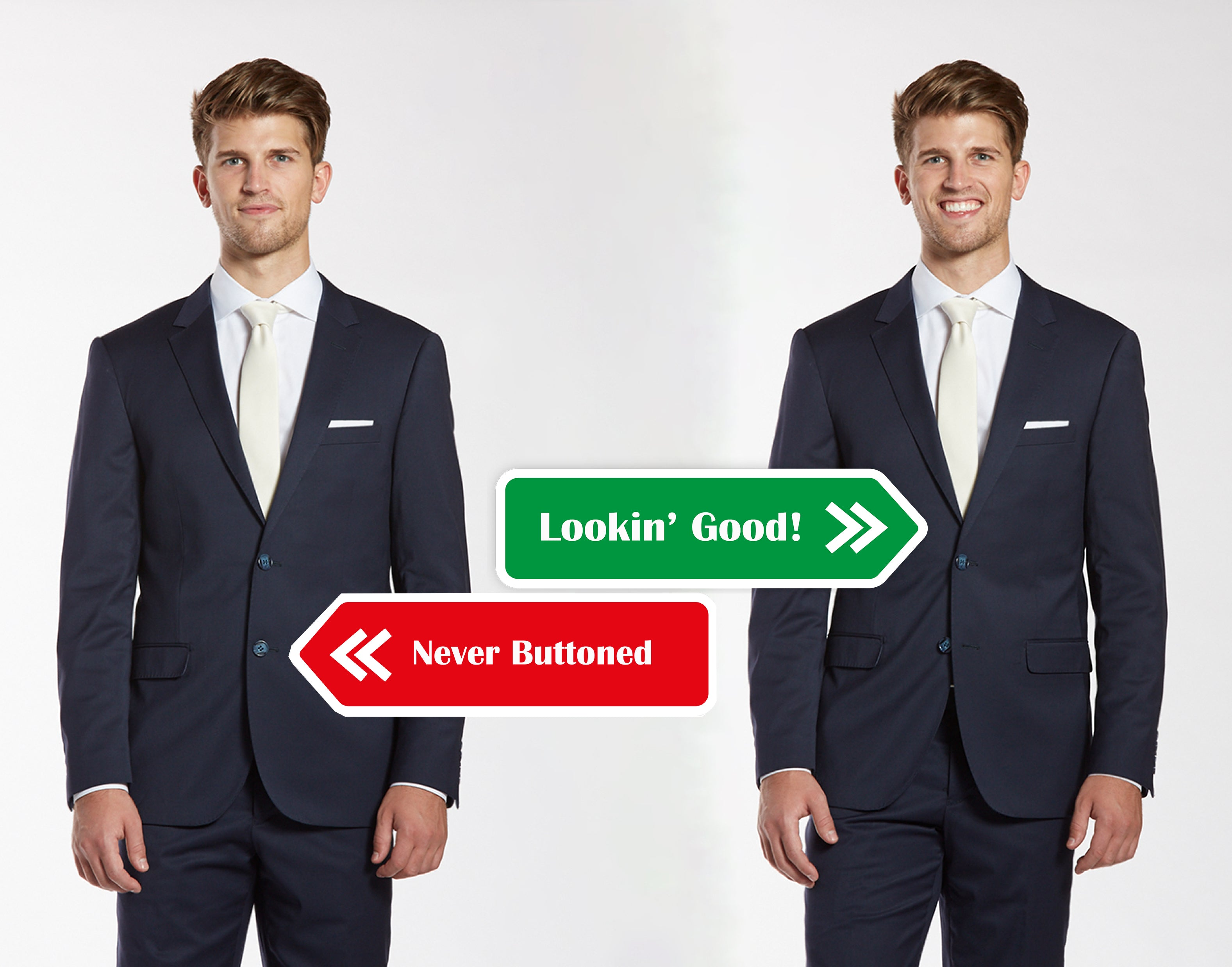 How to Button Suit and Vest | The Groomsman Suit