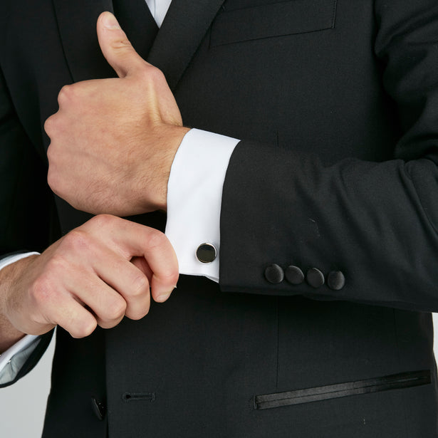 How and When To Sport Cufflinks with Your Wedding Suit or Tuxedo