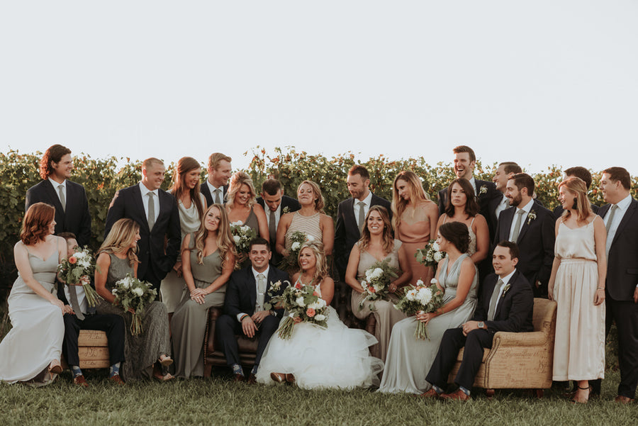 Handsome Groomsmen in Fall Vineyard Wedding