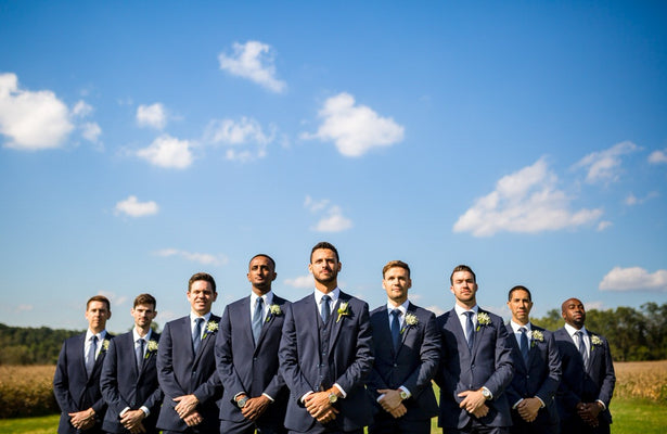 Navy Blue Wedding Suits For Men