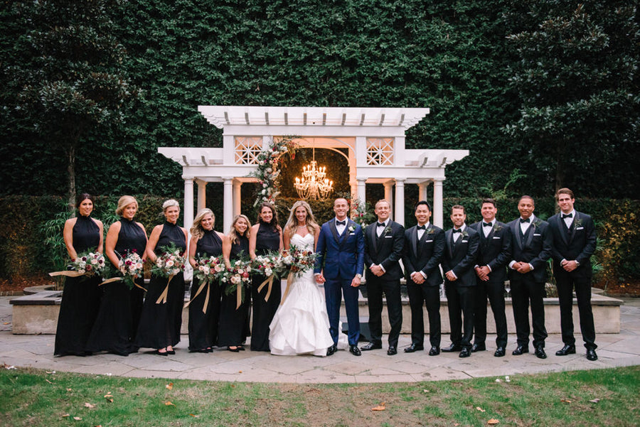Groomsmen In Wedding Tuxedos and tuxedo shoes