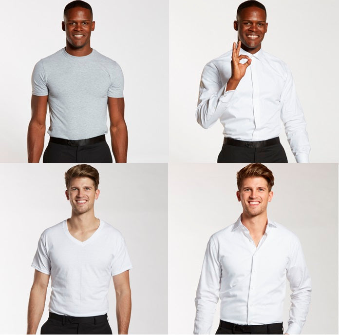 ee8c6996c1d4ea Undershirts For Men  A Groomsman Guide On How To Wear An Undershirt With A  Suit And Tuxedo – The Groomsman Suit