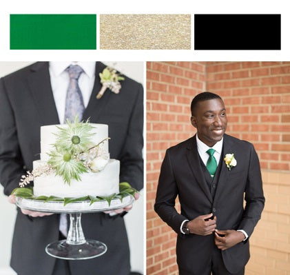 Fall Wedding Colors_Black_Gold and Green