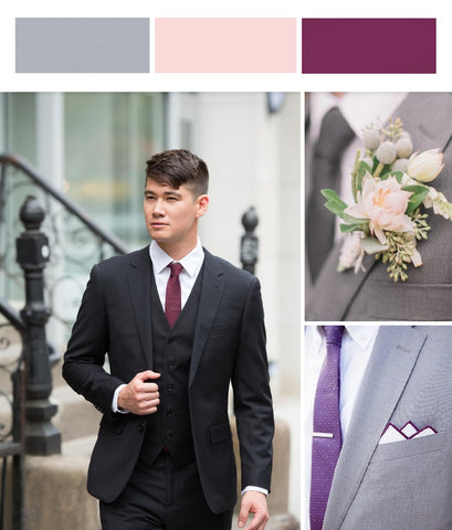 dfa57bc32097 Adding a textured blush or two-tone pocket square is also a great way to  pull in the bouquet colors. For a more elaborate boutonniere, we love  adding grey ...
